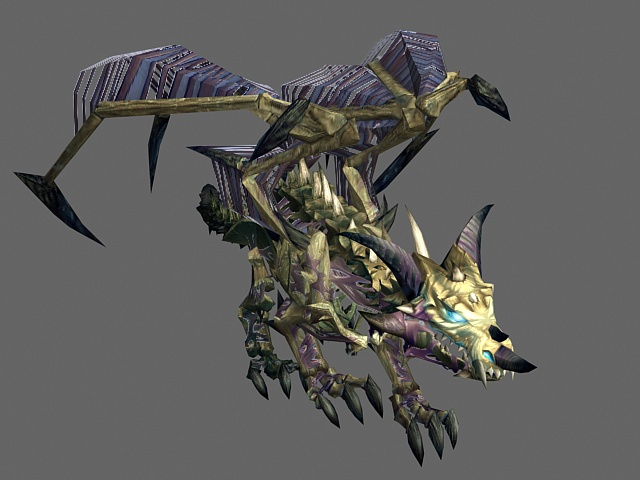 Zombie Dragon 3d Model 3ds Max Files Free Download