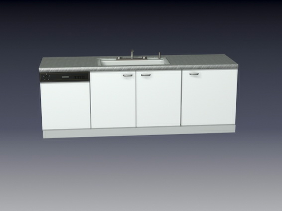 Kitchen Cabinet And Sink Combo 3d Model 3d Studio 3ds Max