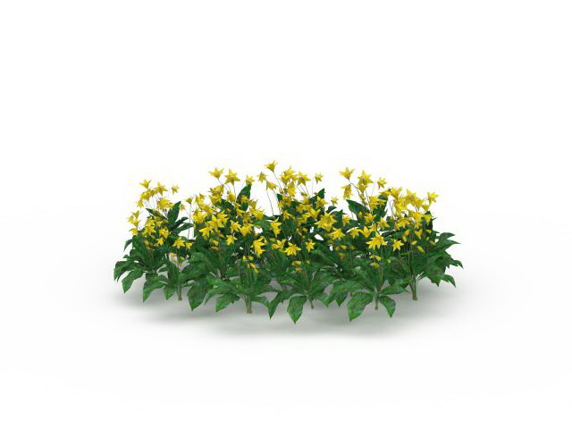 Yellow Garden Flowers 3d Model 3ds Max Files Free Download