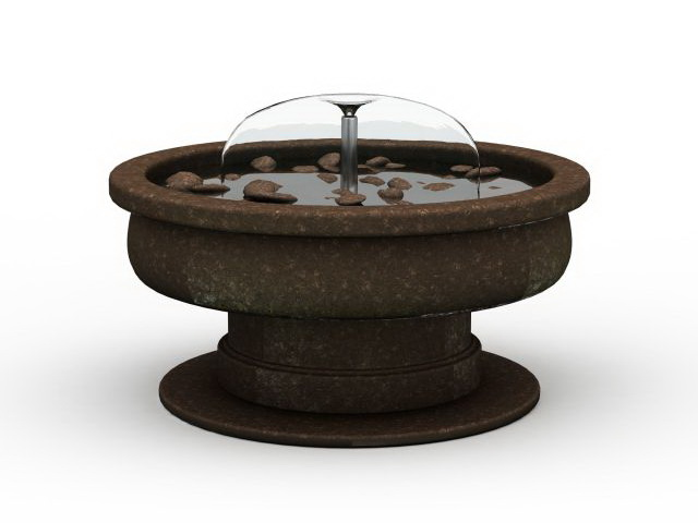 Round Stone Garden Water Fountain 3d Model 3ds Max Files Free Download Modeling 31218 On CadNav