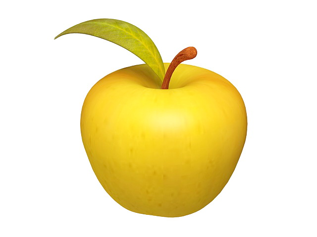 Yellow Apple Fruit 3d Model 3ds Max Files Free Download