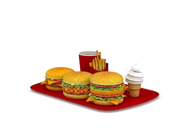 Mcdonalds Family Dinner Pack 3d Model 3ds Max Files Free