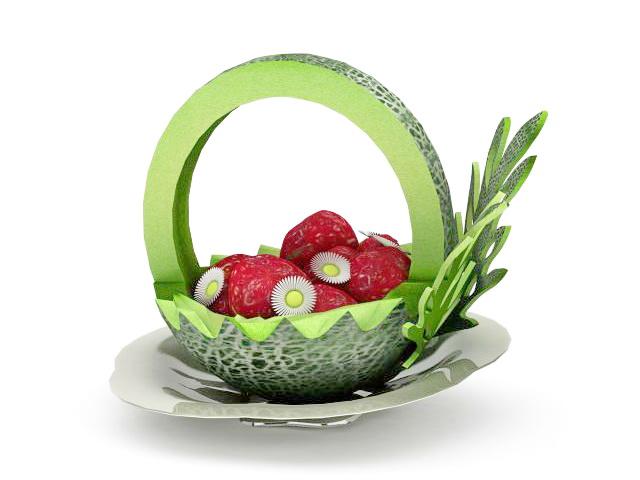 Carved Melon Fruit Carving Platter 3d Model 3ds Max Files Free Download Modeling 32521 On CadNav