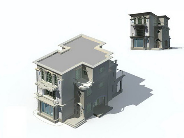 Mansion Modern House 3d Model 3ds Max Files Free Download