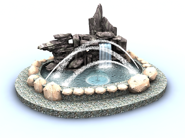 Rockery Fountain Pond 3d Model 3ds Max Files Free Download Modeling 33784 On CadNav