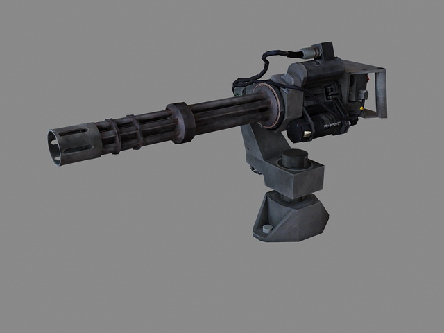 Minigun Machine Gun 3d Model 3D Studio3ds MaxObject Files Free Download Modeling 36002 On CadNav