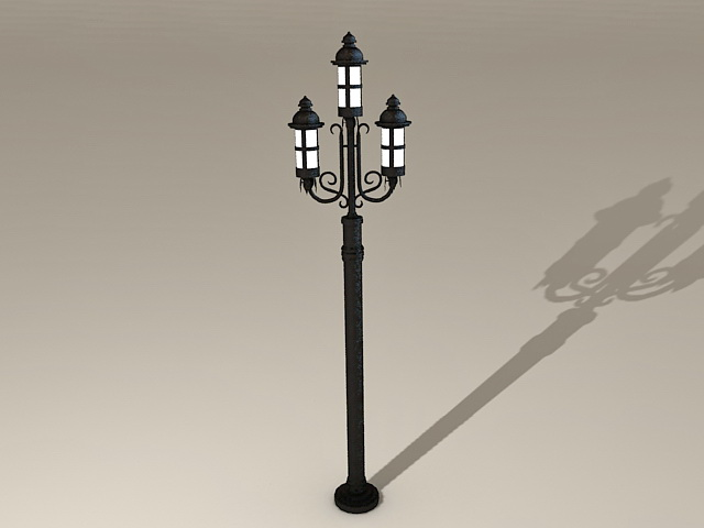 Old Fashioned Street Lamps 3d Model 3ds Max Files Free Download Modeling 36292 On CadNav