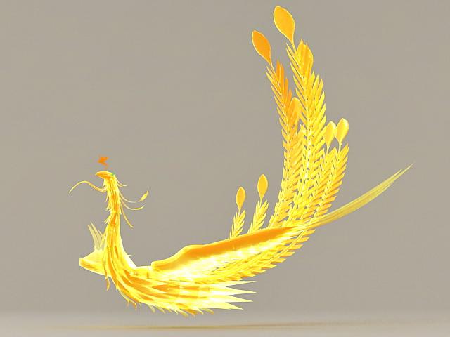 Golden Phoenix 3d Model 3ds Max Files Free Download