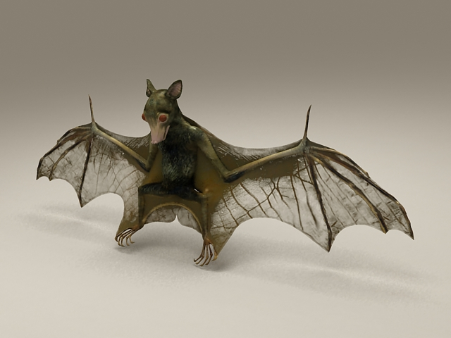 Bat Animal 3d Model 3D Studio Files Free Download Modeling 36526 On CadNav