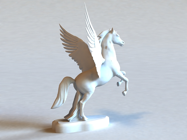 Winged Horse Statue 3d Model 3ds Max Files Free Download