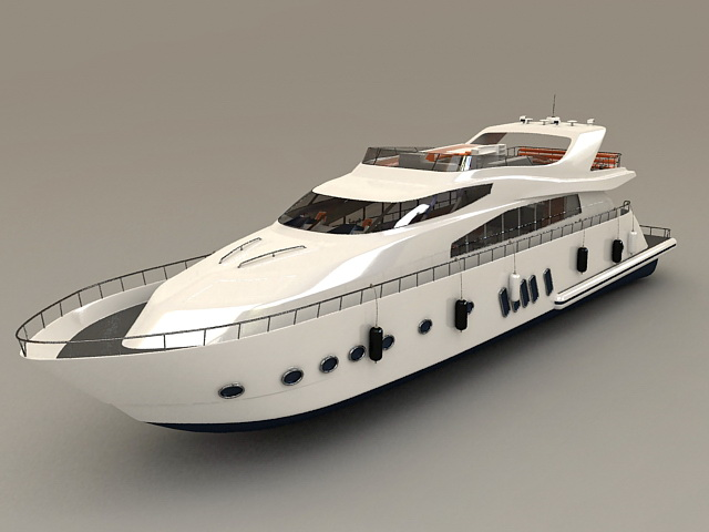 Luxury Yacht Boat 3d Model 3ds Max Files Free Download