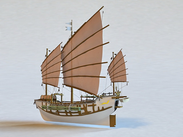 Chinese Junk 3d Model 3ds Max Files Free Download