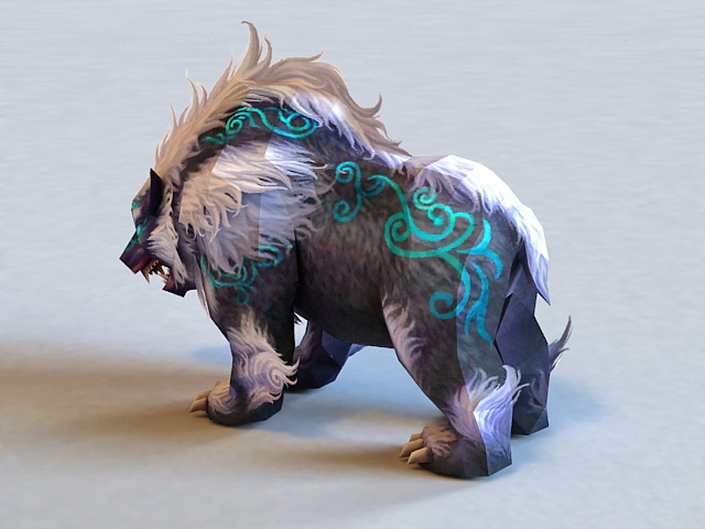 Mythical Bear Creature 3d Model 3ds Max Files Free