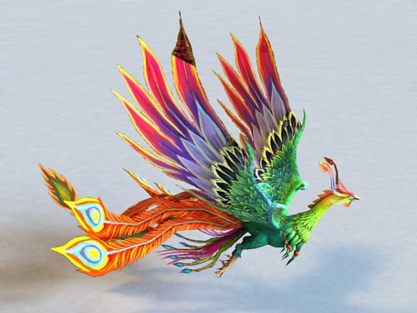 Animated Rainbow Phoenix 3d model 3ds Max files free ...