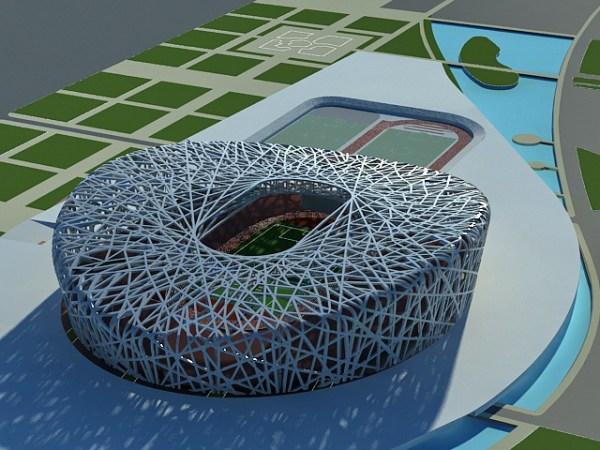 Birds Nest Stadium Beijing 3d model 3ds Max files free ...