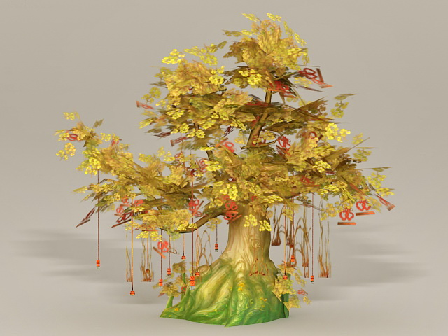 Anime Wishing Tree 3d Model 3ds Max Files Free Download