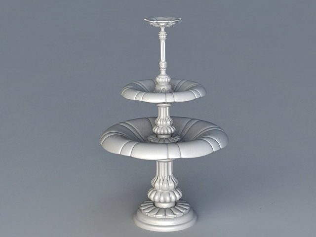 3 Tier Outdoor Water Fountain 3d Model 3ds Max Files Free Download Modeling 38630 On CadNav