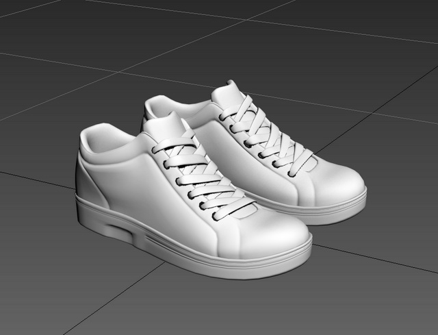 High Top Shoes 3d Model 3ds Max Files Free Download