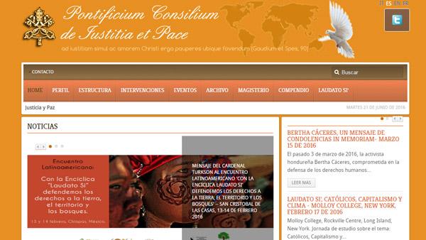 Site da encíclica está disponível em quatro idiomas / Foto: Reprodução