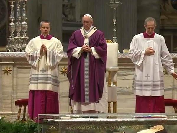 Francisco preside Missa de Cinzas no Vaticano / Foto: Reprodução CTV