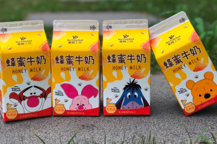 """7-11獨賣""""小熊維尼蜂蜜牛奶"""",4款角色包裝超吸睛!全台限量,跑了9間才買齊~"""