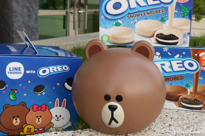 OREO聯名LINE推出「OREO熊大存錢筒」,7-11獨賣,全台限量2萬個!