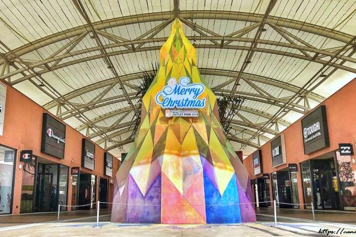 台中竟然出現5公尺高寶石造型耶誕樹!還有浪漫燈海及巨大聖誕老公公!