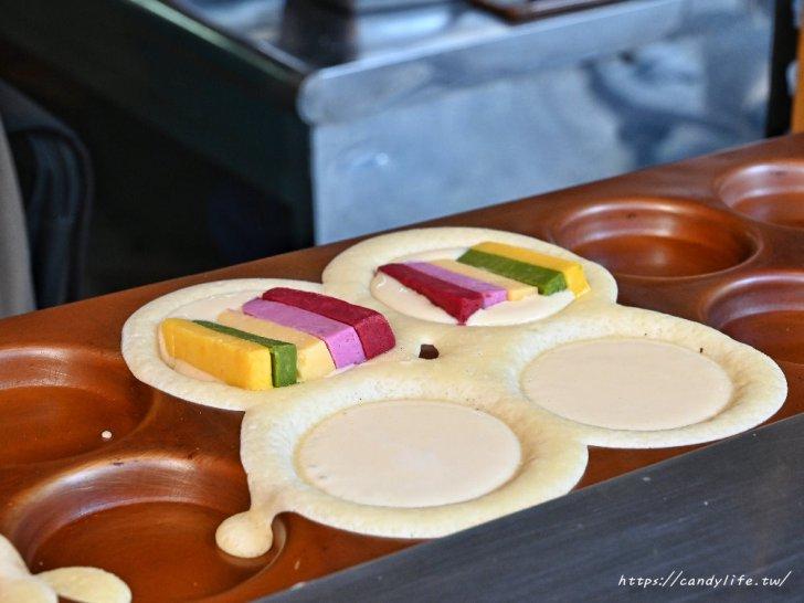 20210301231429 60 - 台中竟然出現彩虹車輪餅,彩虹起司超勘西,想吃只能碰運氣,台中車輪餅推薦~