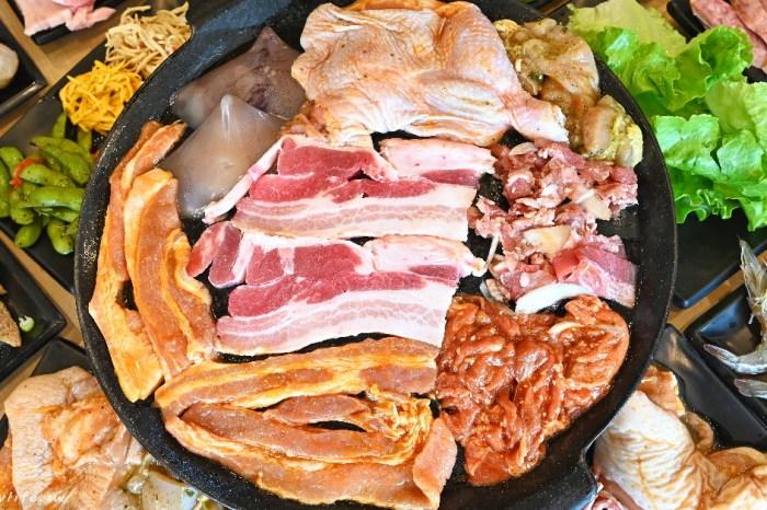 肉鮮生|台中韓式烤肉吃到飽,最低只要369元,免收服務費,超多肉品還有韓式料理任你吃~