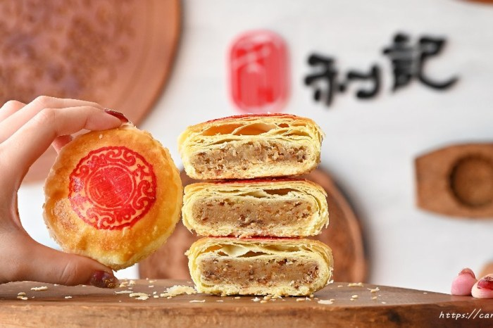 利記餅行│百年餅舖聯名大甲鎮瀾宮古早味肉餅,內餡飽滿不甜膩,還有人氣綠豆椪,賣到大缺貨!