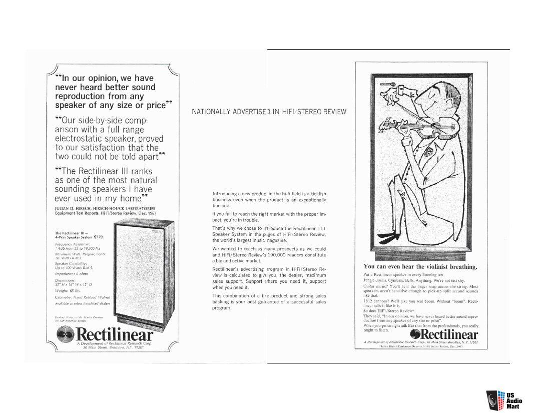 Rectilinear Iii Highboy Speakers Vintage Hifi Stereo Photo