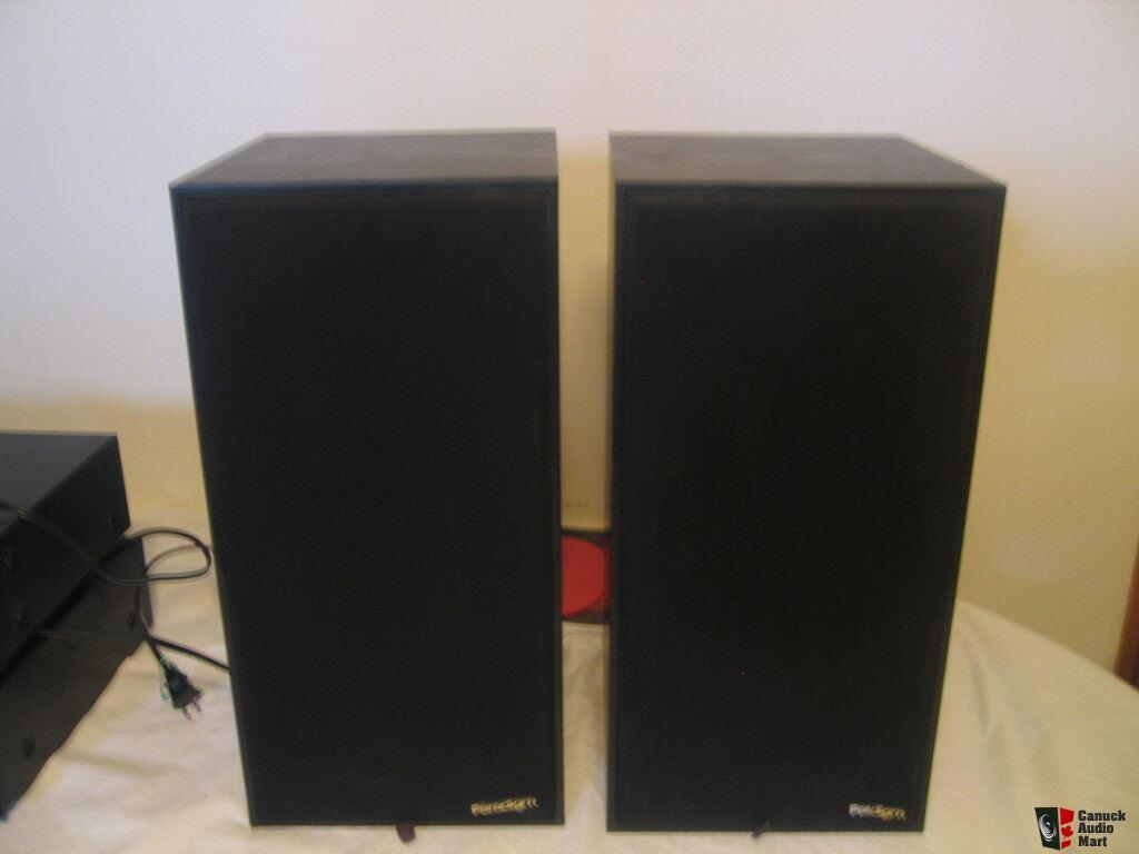 paradigm 3se bookshelf speakers 8 inch woofer 1 inch dome tweeter