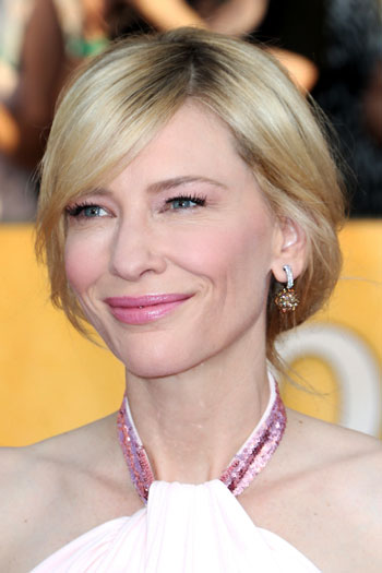 Cate Blanchetts Messy Low Chignon Hairstyle At The 2014