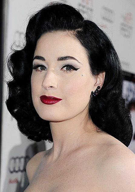 Dita Von Teeses Pin Curls Hairstyle Prom Wedding