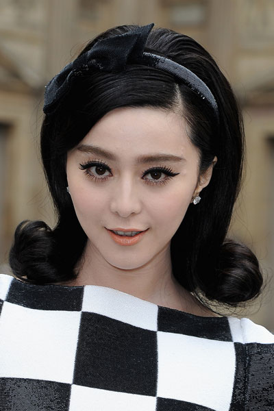 Fan Bingbings Bouffant Retro Hairstyle With Headband