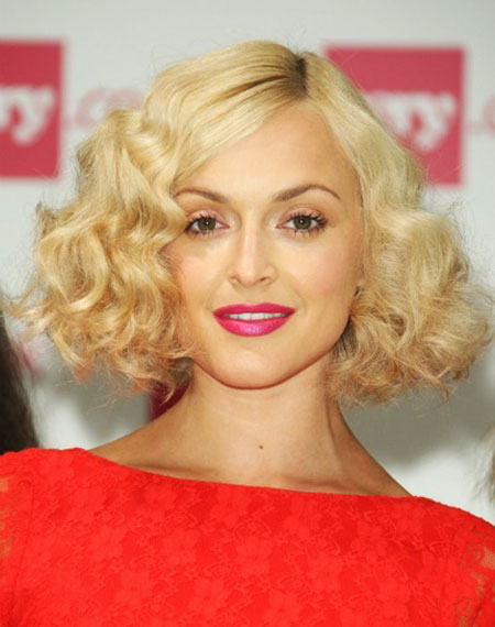 Fearne Cottons Thick Curly Bob Party Summer Spring