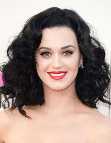 Katy Perrys Big Curly Hair At The 2013 American Music