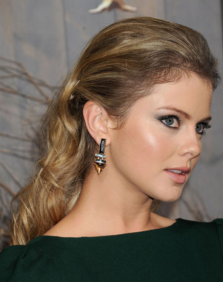 Rose McIvers Faux Low Ponytail Hairstyle Prom Wedding