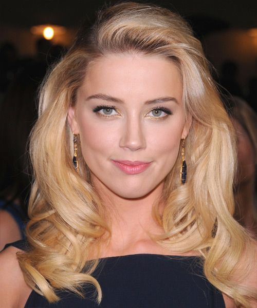Amber Heard Blonde Bouncy Waves Party Formal Evening