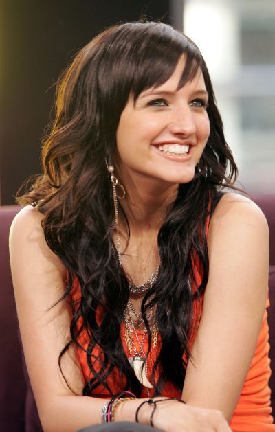 Ashlee Simpson Long Curly Shag Casual