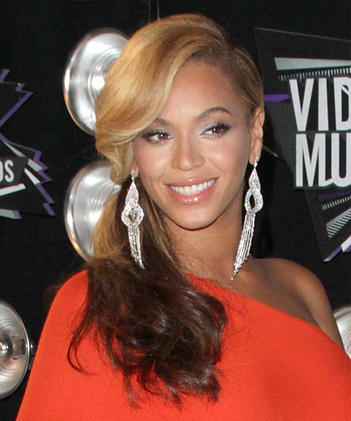 Beyonce Low Side Ponytail Party Evening