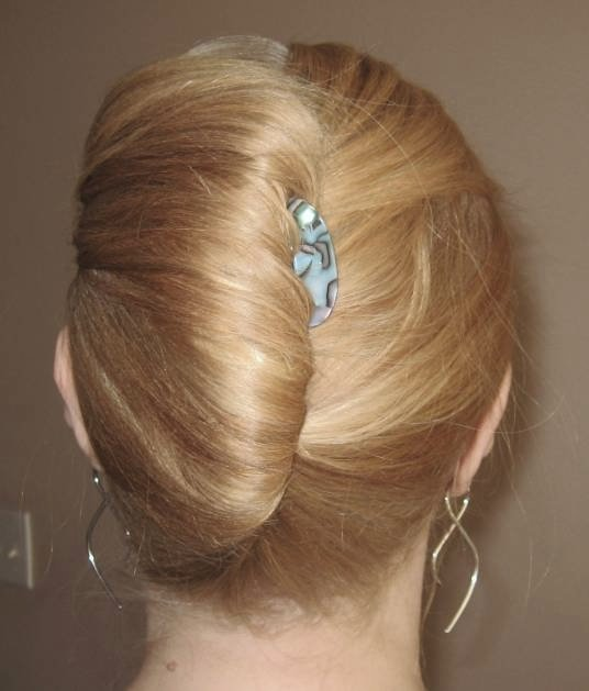 Blonde French Twist Hairdo Prom Wedding Party Formal