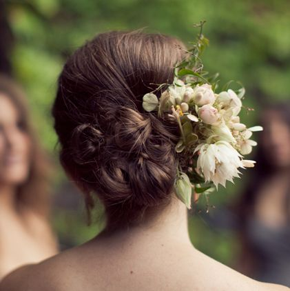 Cluster Of Buns With Flowers Wedding