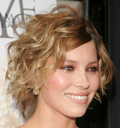 jessica biel curly wedge hairstyle party formal careforhair