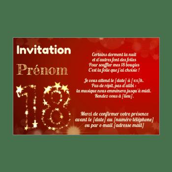 invitation d anniversaire 18 ans