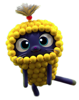 Check Out This Transparent True And The Rainbow Kingdom Bartleby The Cat Dressed As Corn Png Image