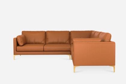 adams l shape sectional sofa leather