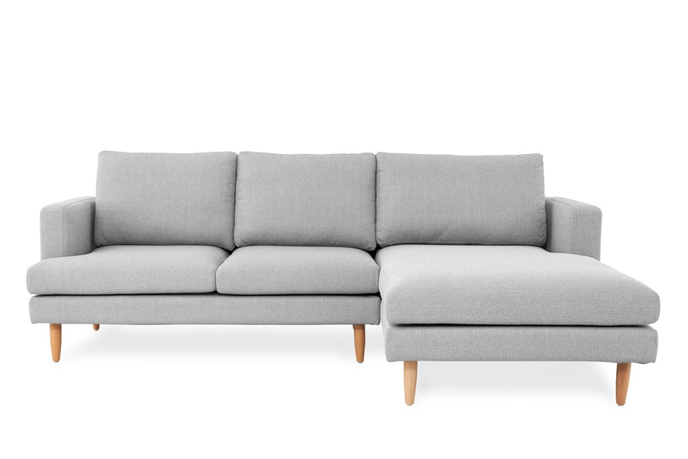 tana sofa sectional right hand facing light gray
