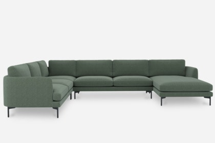 pebble u shape sectional sofa with chaise