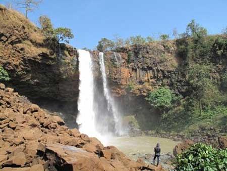 Phu Cuong Waterfall, Pleiku City, Gia Lai, Ayun River